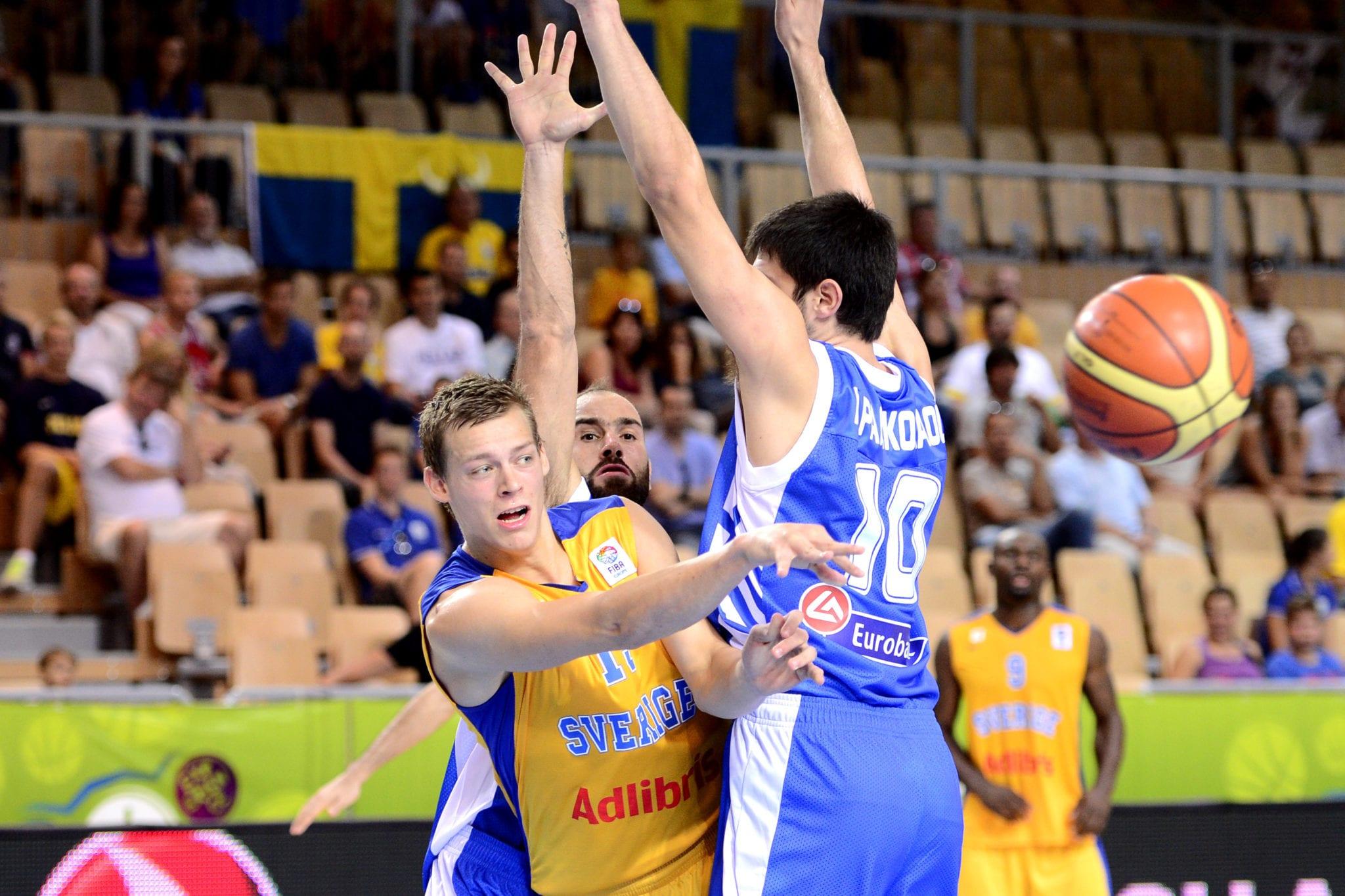 Basket, EM, Sverige - Grekland