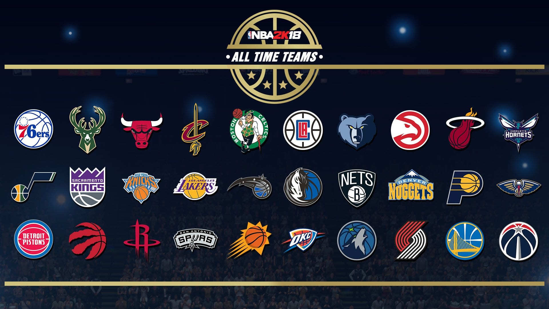 new year new nba 2k this time the developer s team surprised us with not only 16 new historic teams but also new all time teams