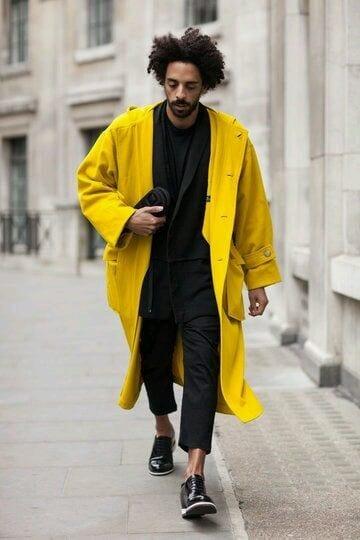 Men bright coat