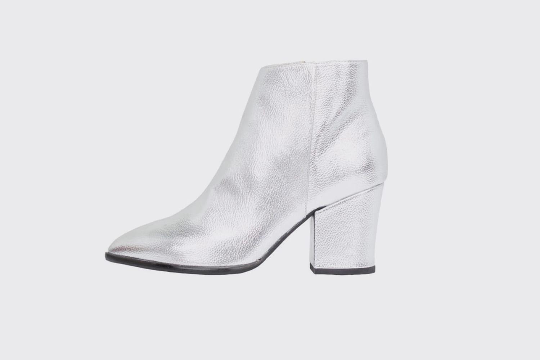 Zilver-ankleboots