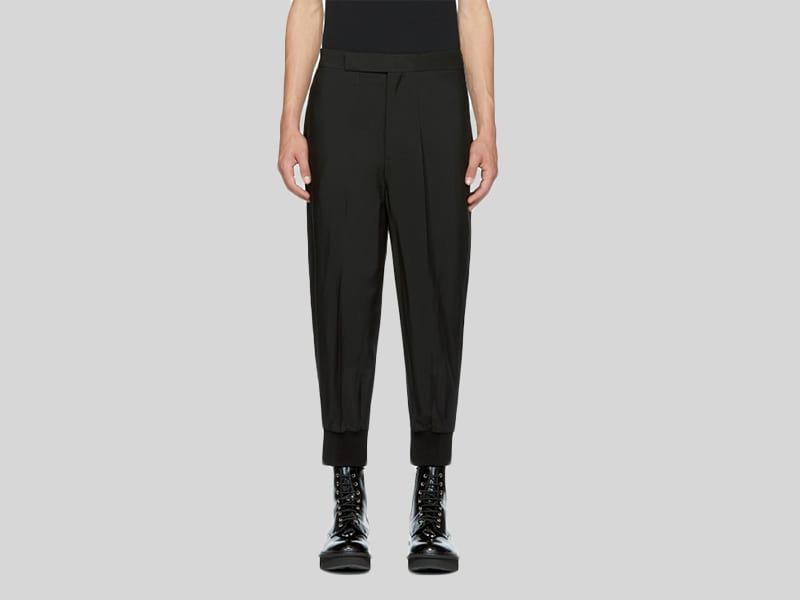 Black Oversized cuff trousers - €517