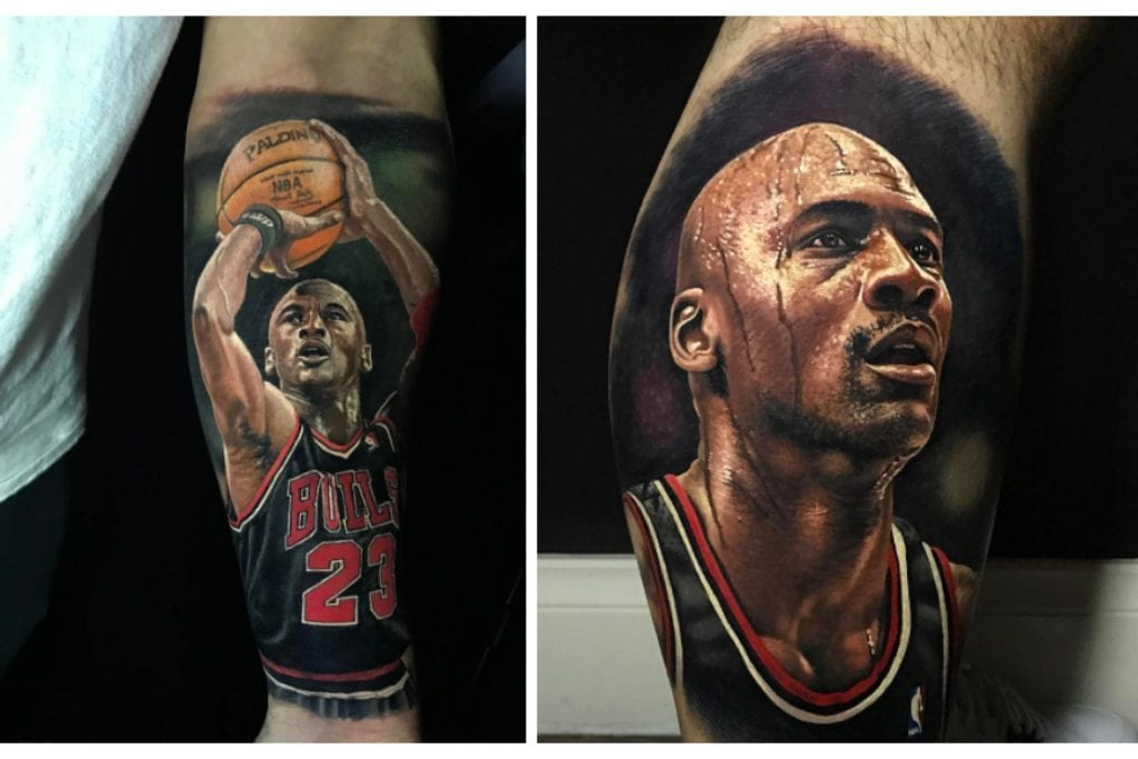 steve butcher the king of nba tattoos we are basket. Black Bedroom Furniture Sets. Home Design Ideas