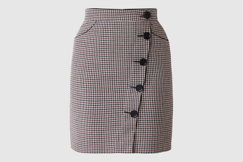 Maje-plaid-skirt