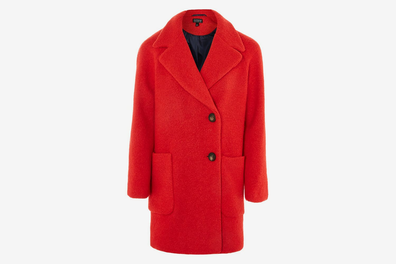 Topshop-Red-Wool-Coat