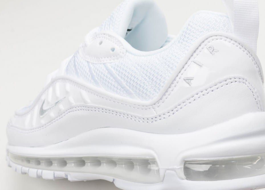 nike air max 98 white pure platinum black reflect silver