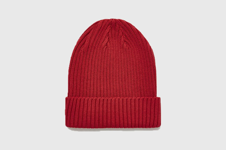 Topman-red-beanie