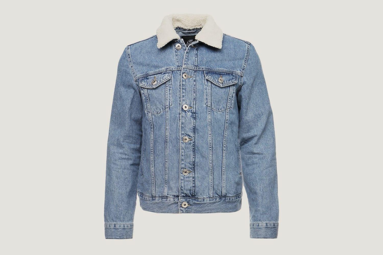 Kings will dream shearling denim jacket