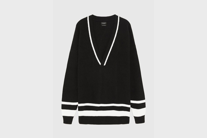 Zara-knit-v-neck-jumper
