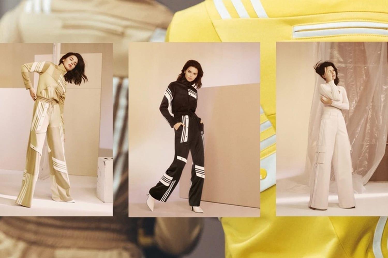 beige adidas tracksuit donna