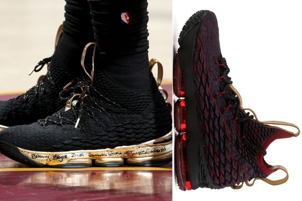 wholesale dealer 69334 4f15a Timeline of the signature LeBron James sneakers — We Are Basket