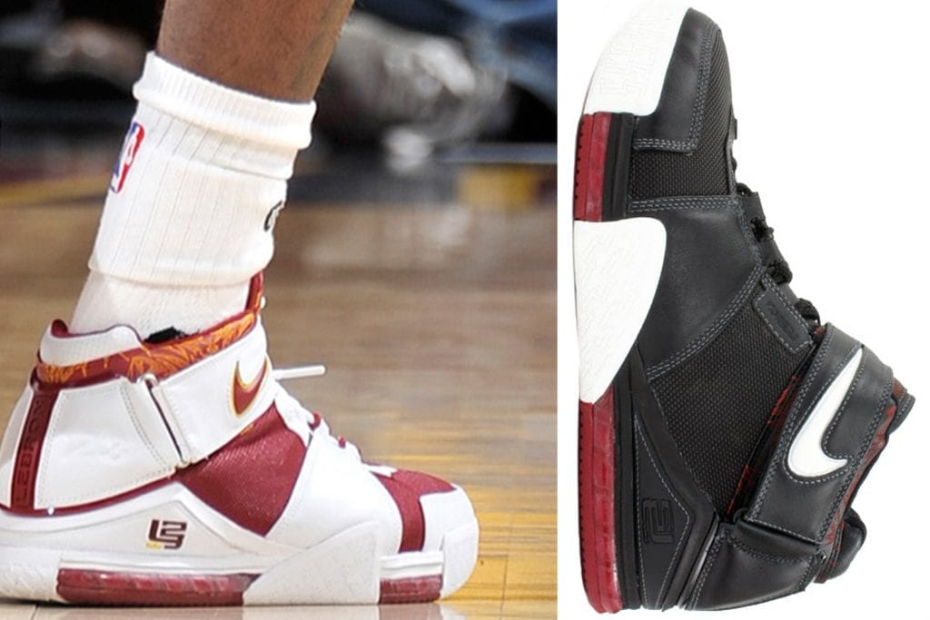 fb7e53ddff8a Timeline of the signature LeBron James sneakers — We Are Basket